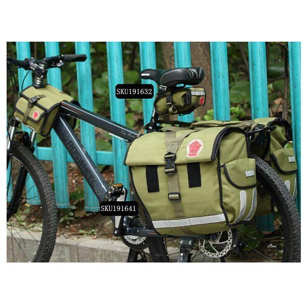 Roswheel bicycle bike saddle bag army green canvas bike