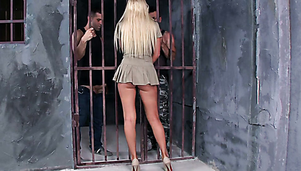 Brazzers hot prison threesome porn video tube