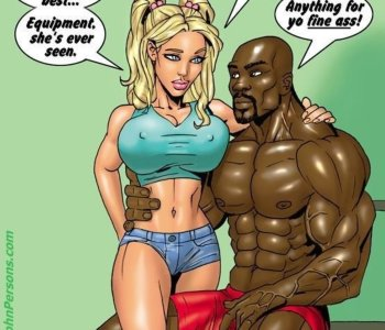 Cartoon hot blondes hunt for big black cock
