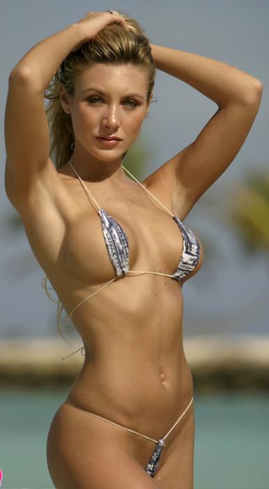 String bikinis on beach