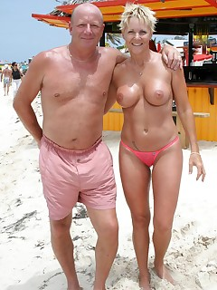 Naked couples on the beach