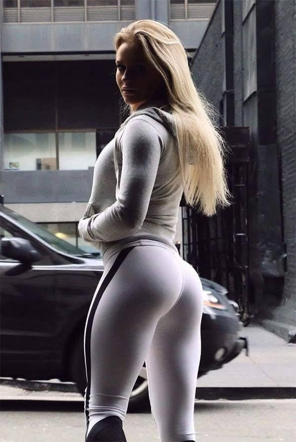 Sexy white girls in yoga pants