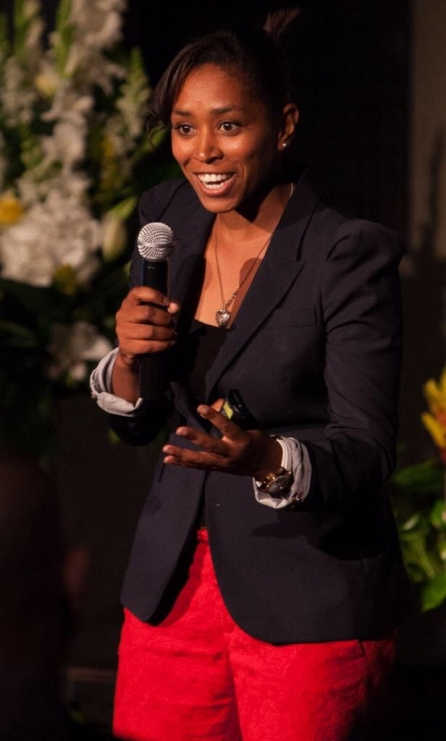Ebony sexy tie done a golf coach black