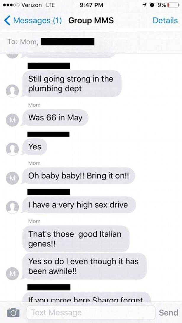 Mom and son text sex chat