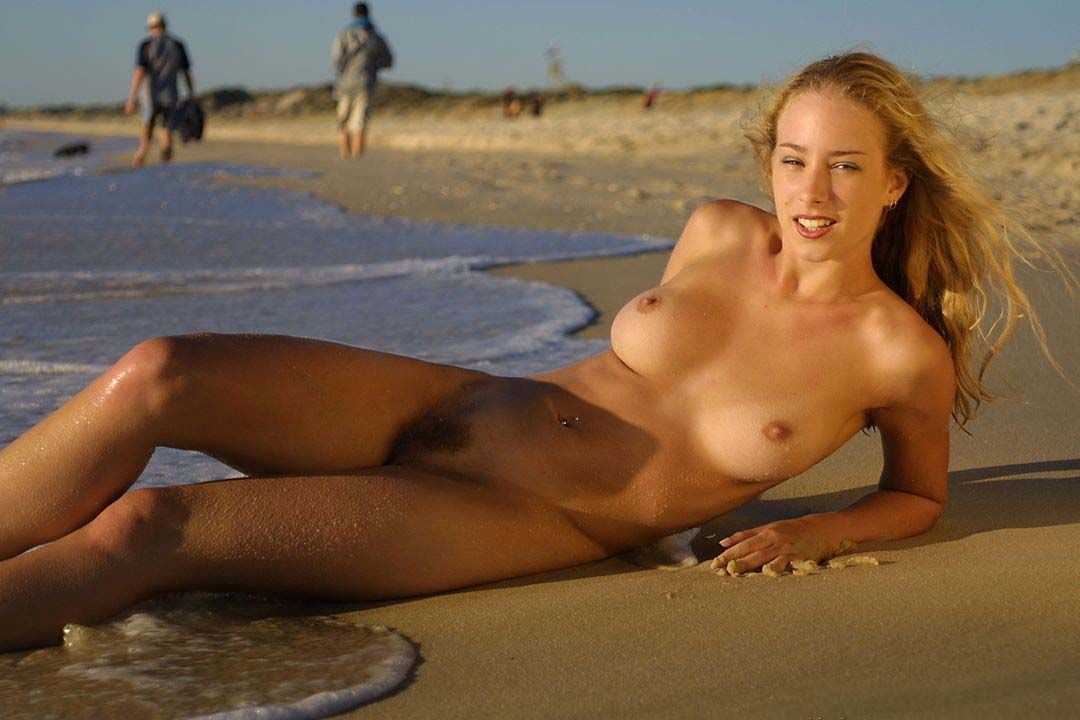 Sexy naked girls on the beach