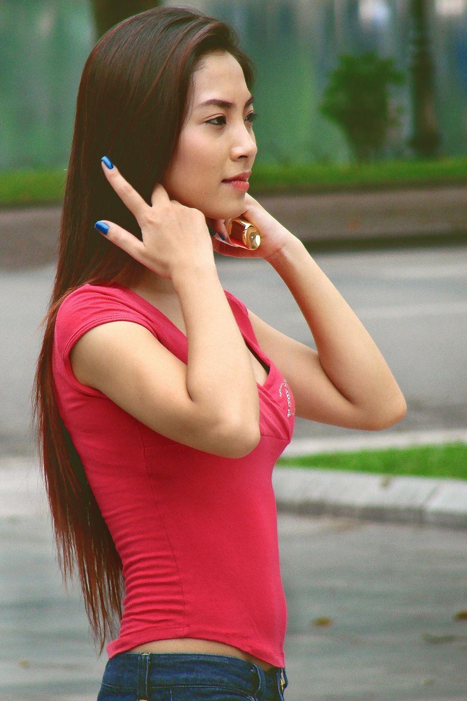 Beautiful women in public