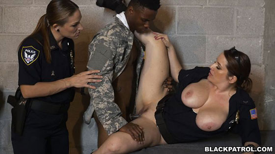 Blackpatrol fake soldier gets used as a fuck toy