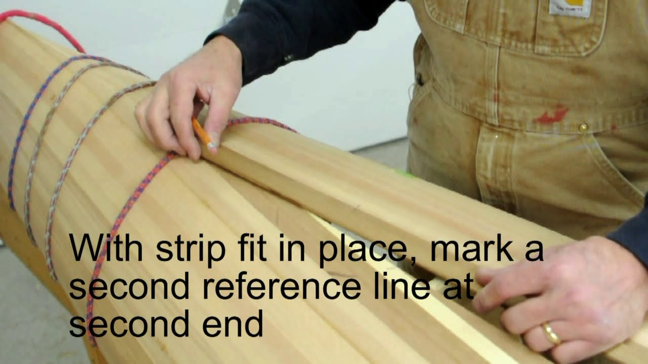 Build wood strip kayak