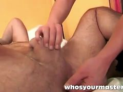 Fembom wife changes the diaper