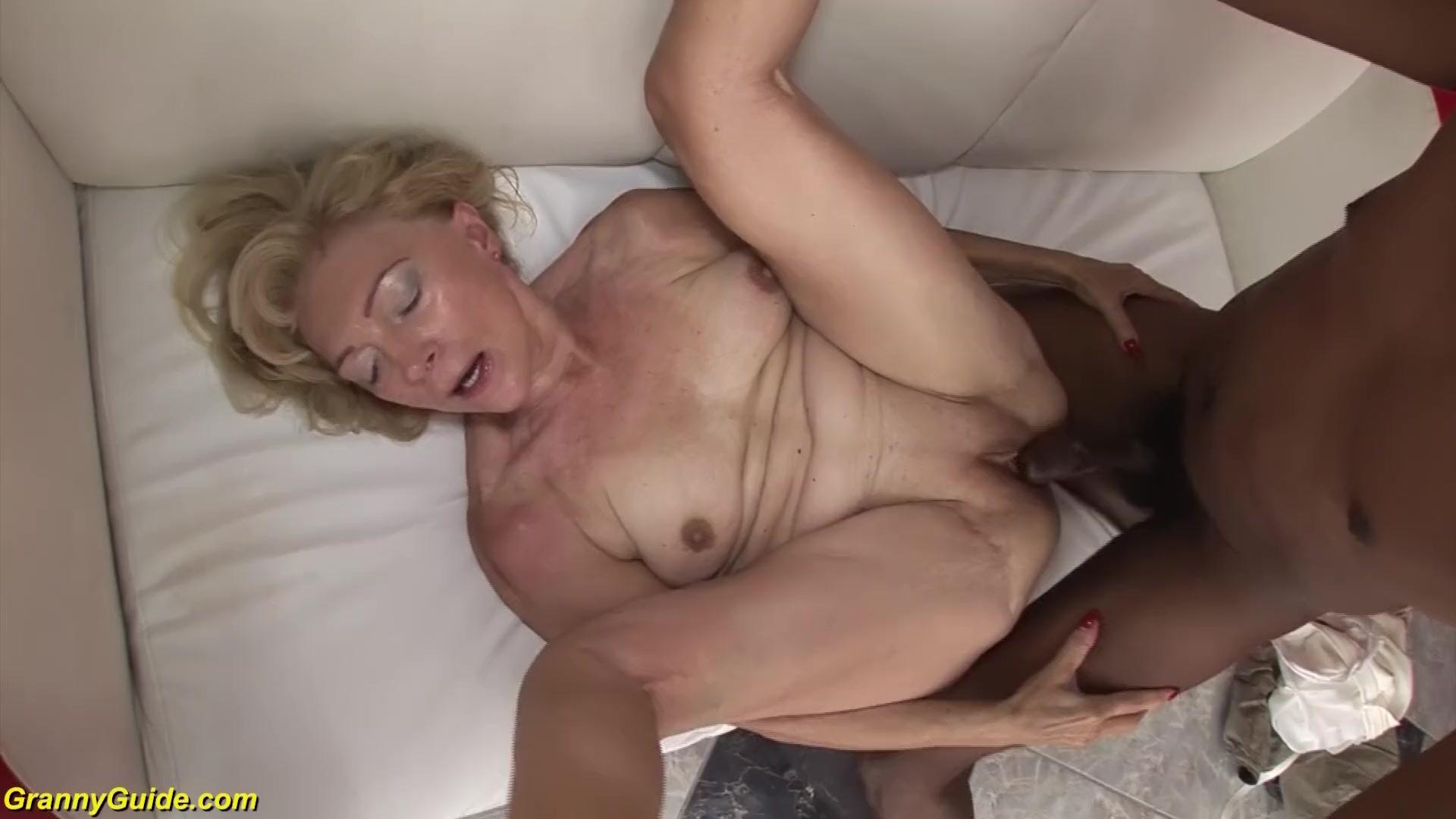 Granny enjoying having interracial sex black ebony