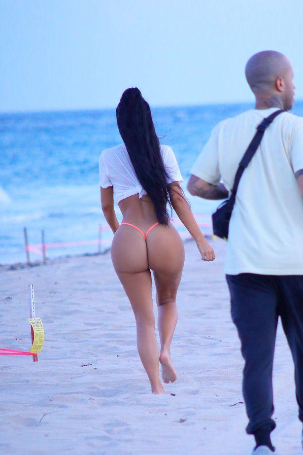 Kim kardashian topless thong butt shot