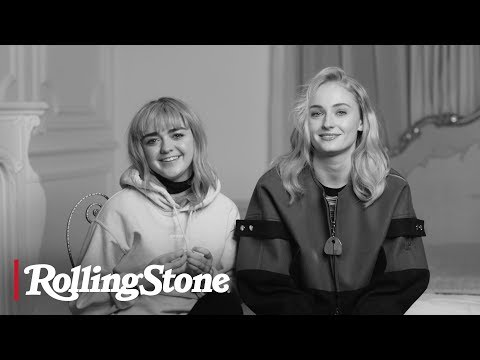 Maisie williams and sophie turner captions