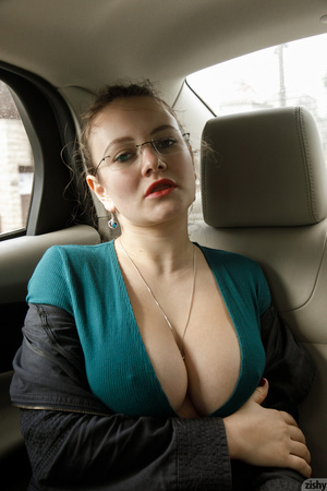 Naked in back seat
