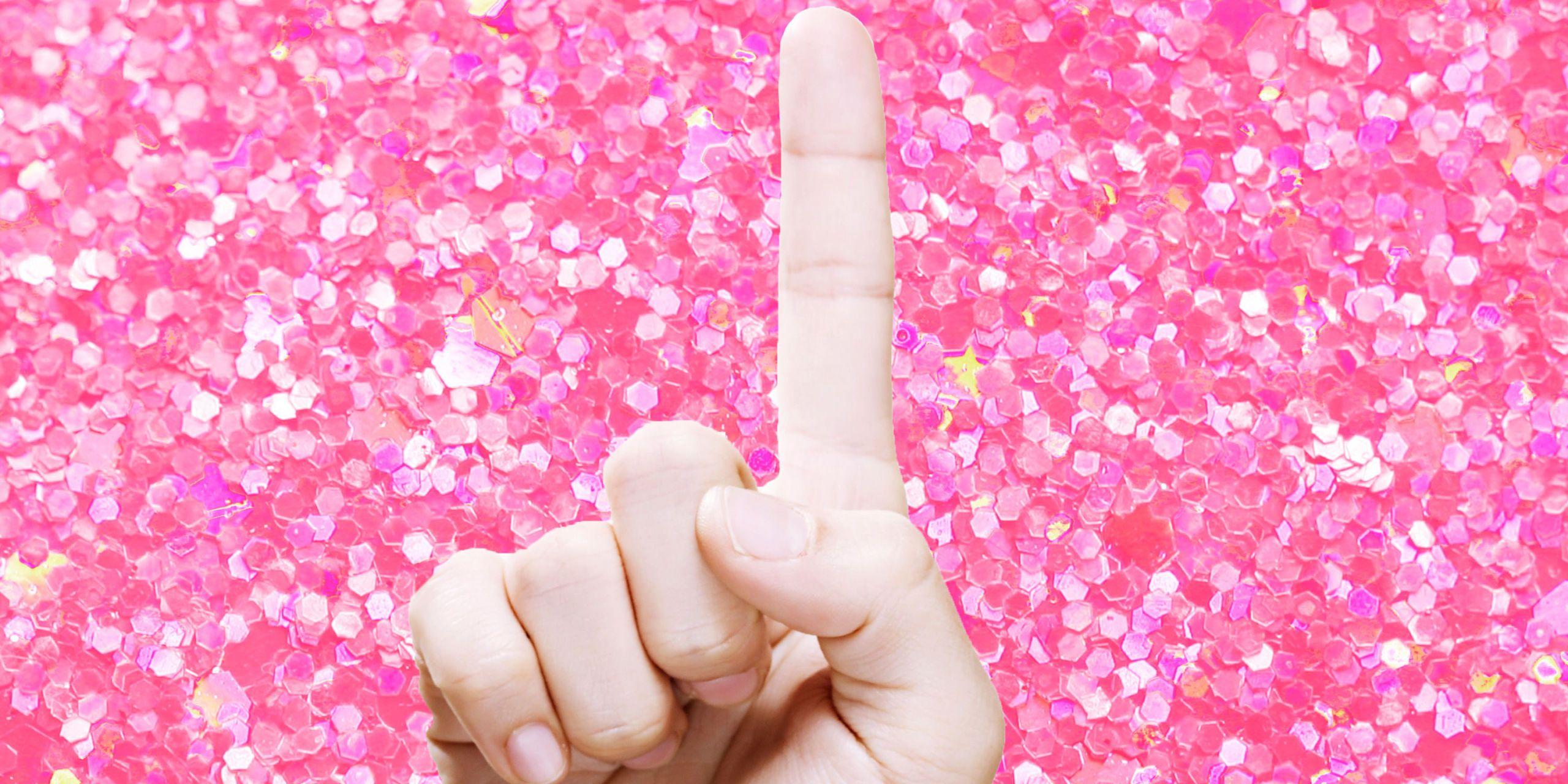Pink nails and sleek pussy masturbating porn video