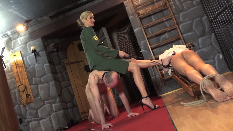 Victoria enjoys foot licking femdom clips